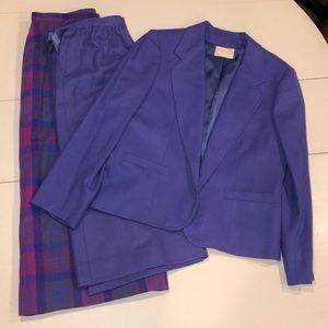 Vintage Pendleton purple blazer and 2 skirts